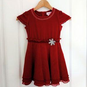 American Girl Red Velvet & Mesh Holiday Dress 6